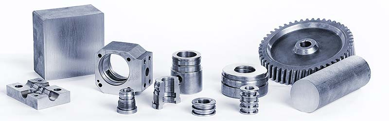 Components made of ACO Eurobar® quality continuous casting for various industry sectors